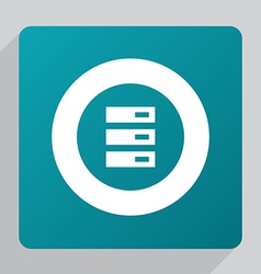 flat server icon vector image