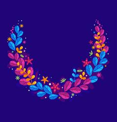 floral simplify wreath vector image