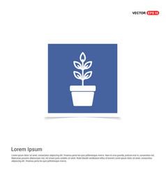 Flower pot icon - blue photo frame vector
