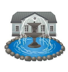 Fountain and palace vector