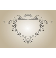 frame with floral elements for registration vector image