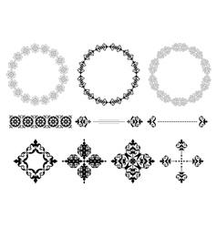 frames and vintage elements vector image