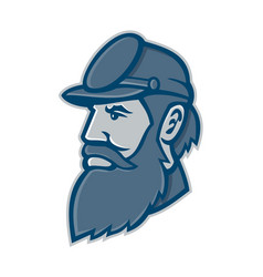 General stonewall jackson mascot vector