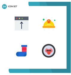 Group 4 modern flat icons set for app vector