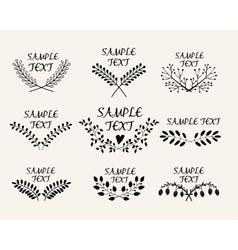 Hand drawn floral symmetric graphic design vector