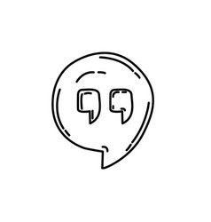 hangout icon doodle hand drawn or black outline vector image