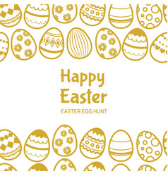 Happy easter egghunt banner template with vector
