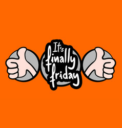 happy friday vector image