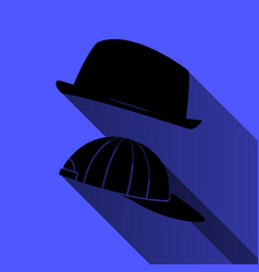 hat and baseball cap on a blue background vector image