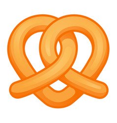 heart pretzel icon cartoon style vector image
