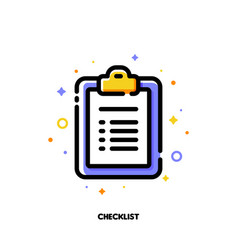 icon of clipboard with checklist and checkmarks vector image