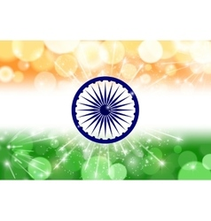 Indian flag theme background for Indian Republic vector