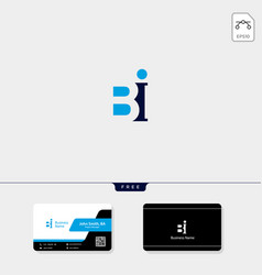 initial b bb or bi concept logo template free vector image