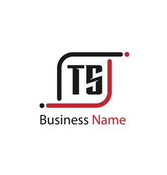 initial letter ts logo template design vector image