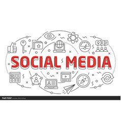 lines template social media vector image