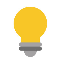 Lit regular lightbulb icon image vector