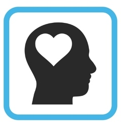 Lover Head Icon In a Frame vector