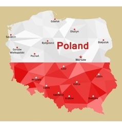 map poland vector image