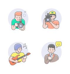 media professions avatars vector image