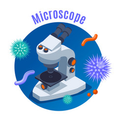 Microbiology isometric background vector