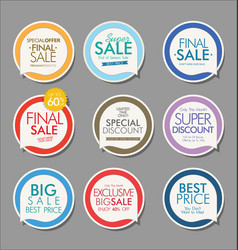 modern sale banners and labels collection 07 vector image