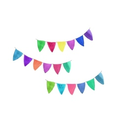 Multicolored garlands Watercolor object on the vector image
