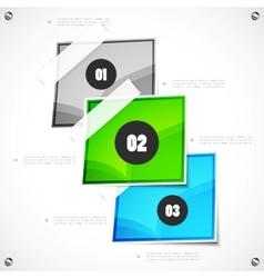 Option steps modern template vector