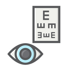 Optometry filled outline icon medicine vector