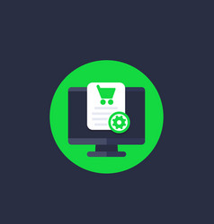 Order online purchase processing vector