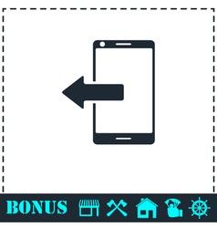 Outcoming calls icon flat vector
