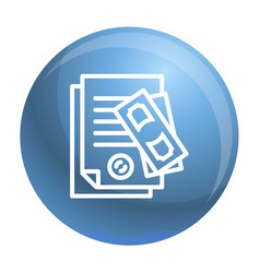 Paper pass bribery icon outline style vector