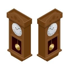 Pendulum clock Elegant roman numeral clock vector