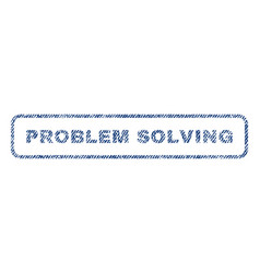 Problem solving textile stamp vector