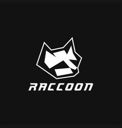 raccoon head logo vector image