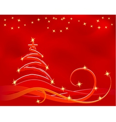 red xmas background in vector vector image