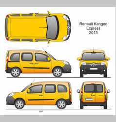 Renault kangoo express passenger van 2013 vector