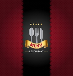 Restaurant menu design on Royal background vector