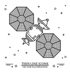 Satellite in space on the white background vector