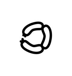 sausage icon symbols vector image