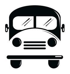 school bus icon simple black style vector image vector image