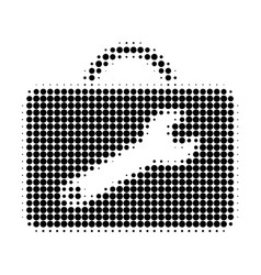 Service toolkit halftone dotted icon vector