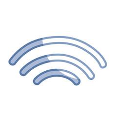 silhouette wifi digital symbol to digital vector image