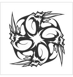 Skulls T-shirt design logos vector