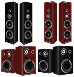 Speaker in brown and black color art vector