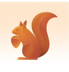 Squirrel trend volume gradient vector image