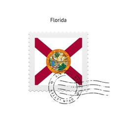 State of Florida flag postage stamp vector