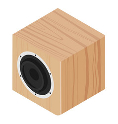 subwoofer wooden design isometric view isolated vector image