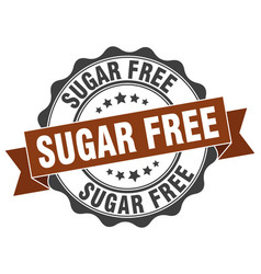 Sugar free stamp sign seal vector
