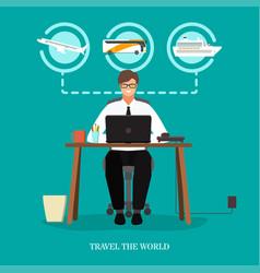 Travel world concept flat vector