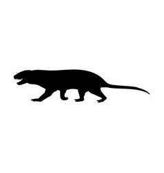 Tritylodontydae silhouette extinct mammalian vector